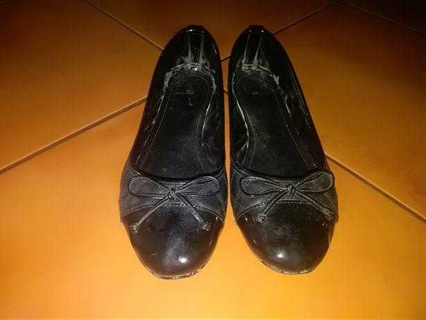 Czarne baleriny rozmiar 41 wkładka 26cm