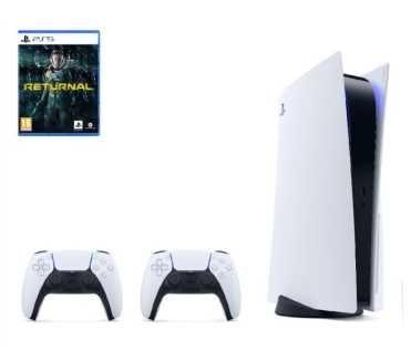 PS5 Playstation 5 BLU-RAY 825GB + 2x PAD DualSence + Gra Returnal