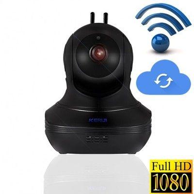 Камера видеоняня сигнализация KERUI 1080Р WiFi запись на карту 433 MHz