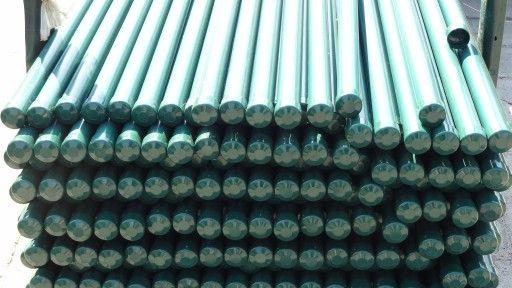 Słupki ogrodzeniowe ocynkowane+ kolor zielony h-200 z daszkiem