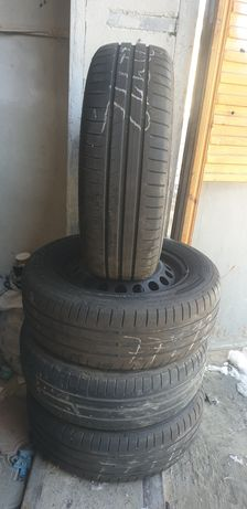 Резина літо Dunlop 195 65 r15 з дисками 5×112 . Лето.