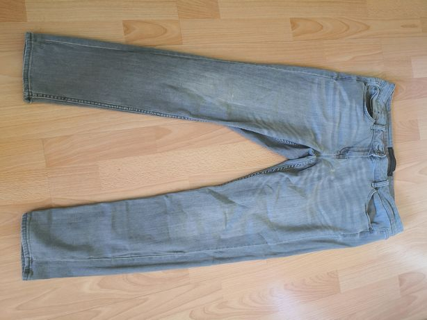 Damskie spodnie jeansy szare
