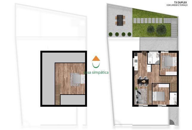Andar de moradia T3 Duplex | Centro | Gondomar (São Cosme)