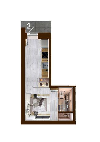 Квартира с евро ремонтом и мебелью 20м2 в доме с тренажерным залом