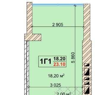 Смарт квартира 23,1 кв\м у ЖК Павленко холл
