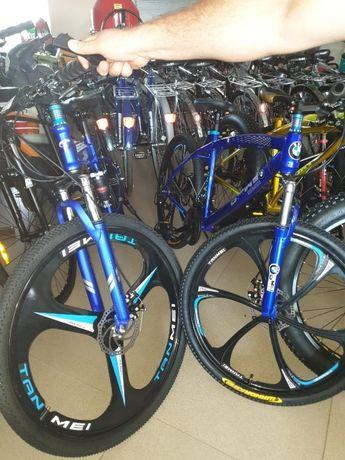 Складной велосипед двухподвес, литые диски, колеса 29', 19 рама