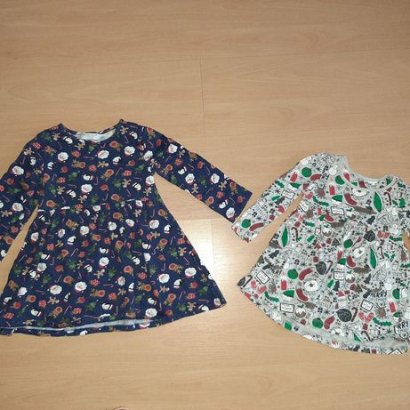 Sukienki świąteczne  74/80 oraz 110