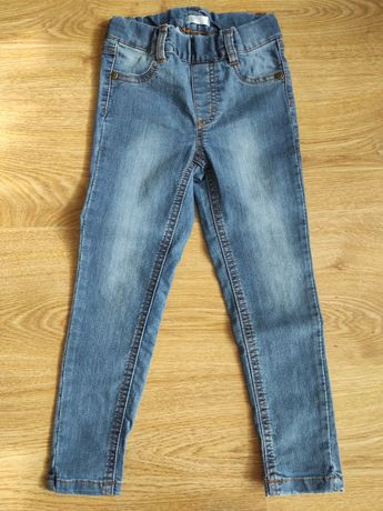 Spodnie jeansowe na gumce 110 Pepco