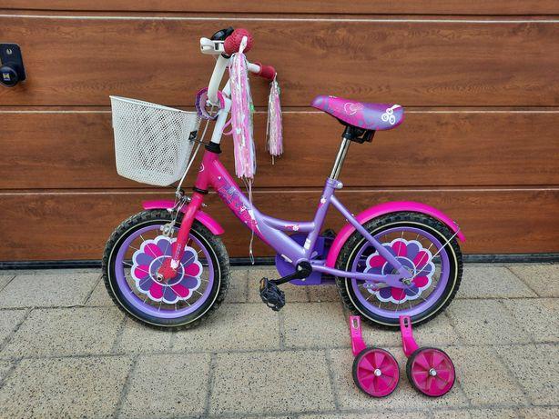 Rower dla dziewczynki koła 14 cali Stan Bardzo dobry mało używany