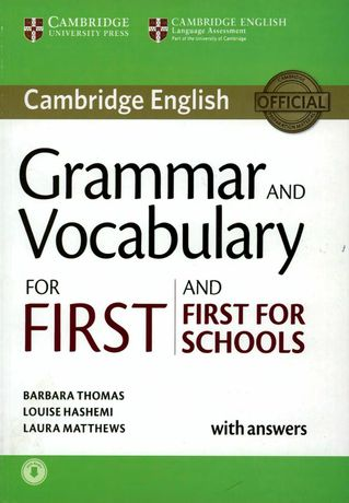 Grammar and Vocabulary for First and First for Schools Book чорно-білі