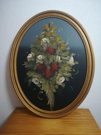 Quadro oval (Flores)