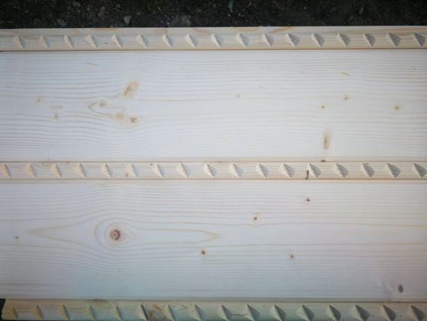 Imitacja mszenia wałek drewniany warkocz deska elewacyjna boazeria