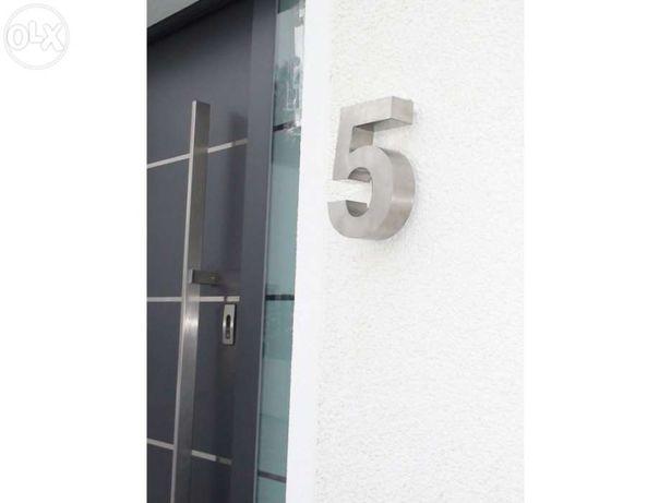 Números residenciais de Inox - Nr. 5 em 3D para Portas ou Entradas