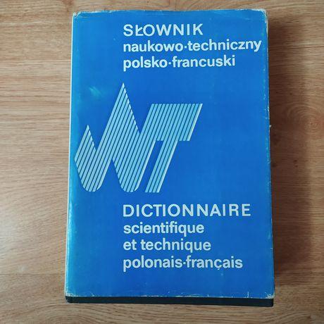 Słownik naukowo techniczny polsko francuski unikat 1983