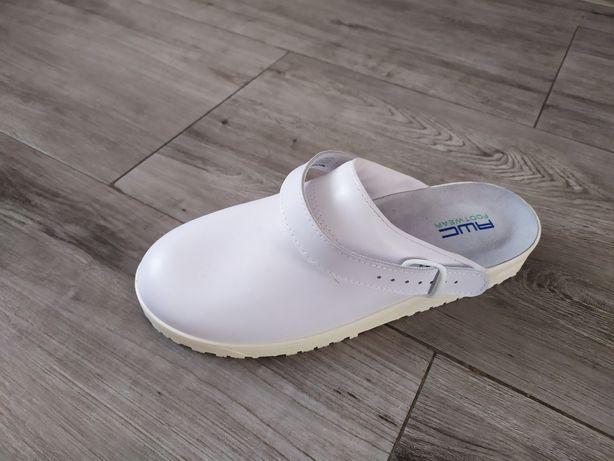 Buty sandały-klapki białe