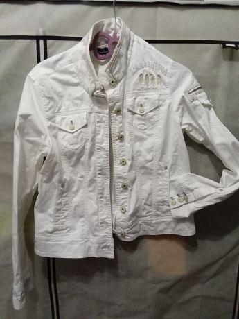 Katana damska jeansowa biała