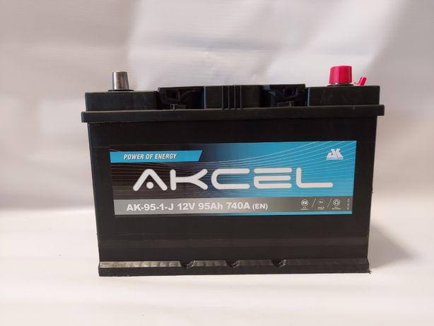 Akumulator AKCEL 12V 95Ah 740A Japan P+