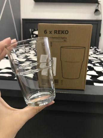 Фирменные стаканы Икеа, набор стаканов Ikea.