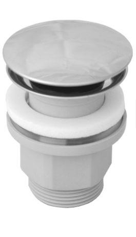 Korek umywalkowy z przelewem / bez przelewu.  OMNIRES A64 CR