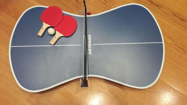 Mini Mesa Ping Pong + raquetes