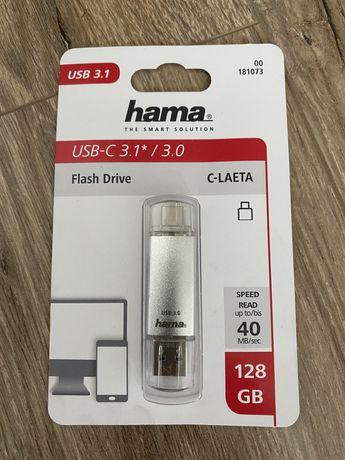 Hama Flash Drive C Laeta Usb-c 3.1* / 3.0, 128gb 40 MB/sec для телефон