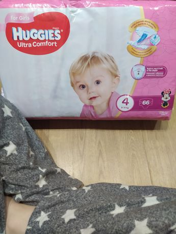 Huggies ultra comfort for girls 4 подгузники 4 пачки
