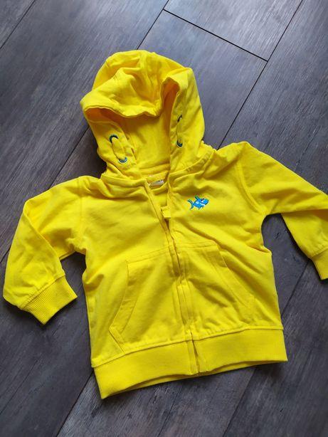 Bluza kaptur kapturek cool club coolclub 74 żółta