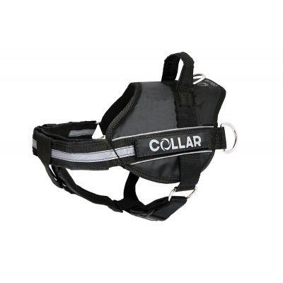 Шлея Collar DogExtremе Police N3 со сменной надписью 55-75 см Черная ( Владимир-Волынский - изображение 1