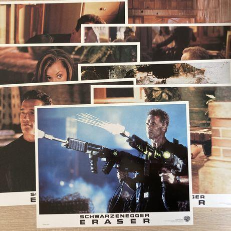 Egzekutor / Schwarzenegger - karty kinowe x8 - kadry filmowe