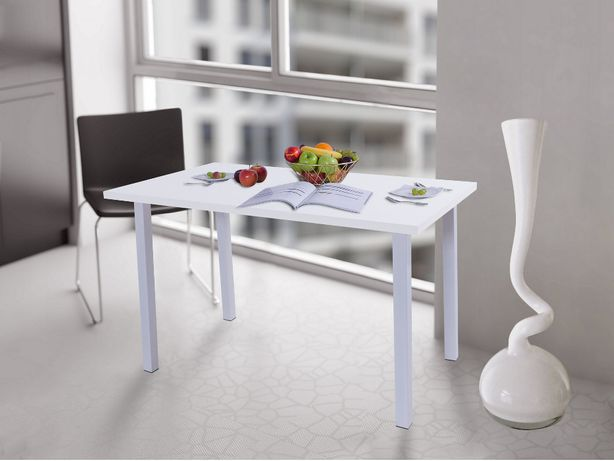Stół kuchenny 120x68x38 Biały Mat, noga kwadrat