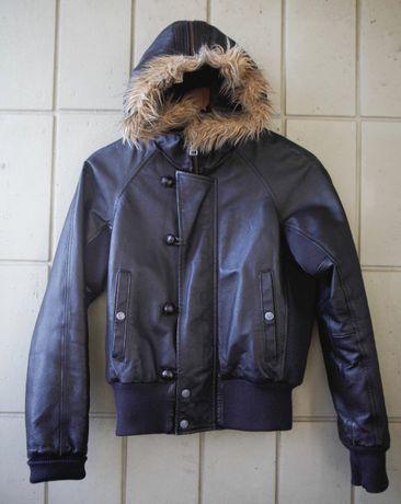 Puma кожаный женский редкий бомбер куртка