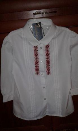 Рубашка женская школьная вышивка бисером рукоделие 1вересня сентябр
