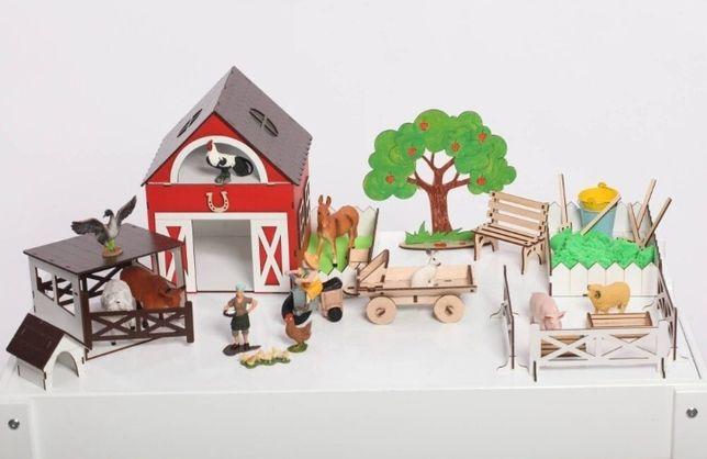 Супер ФЕРМА NestWood для животных шляйх кукольный домик кукол лол lol