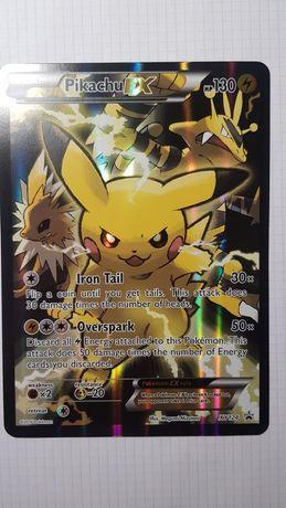 Oryginalna karta Pokemon PIKACHU EX XY124 Jumbo Promo Near Mint