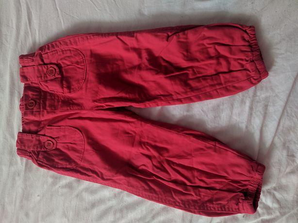 Czerwone spodnie z podszewką 86