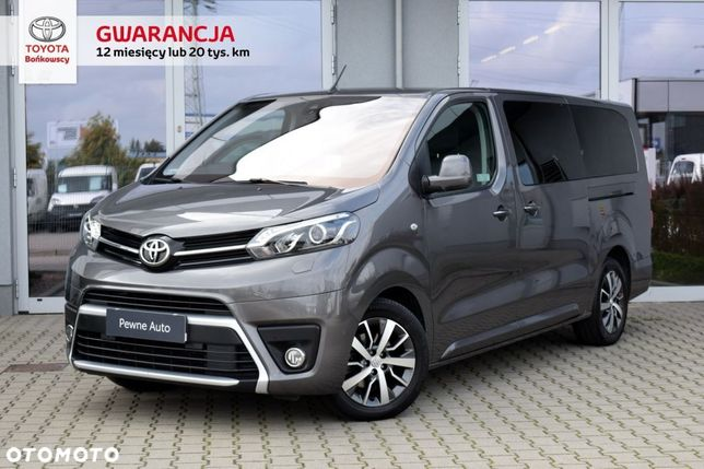 Toyota Proace Verso 177KM Verso Long VIP Aut. Navi Skóra F.23% Gw.12m SalonPL Bońkowscy