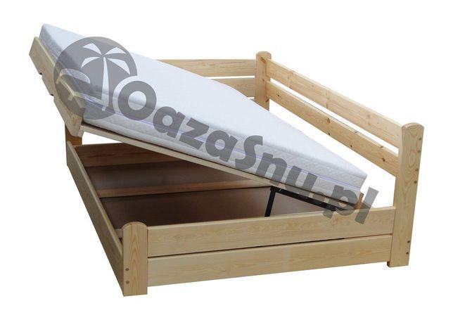 Łóżko otwierane z oparciem i skrzynią FORTECA 120x200 dowolny wymiar