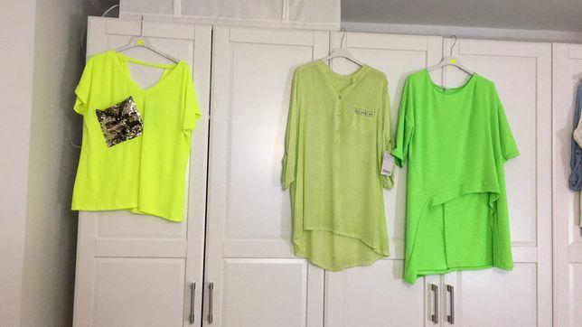 Bluzki neon seledyn