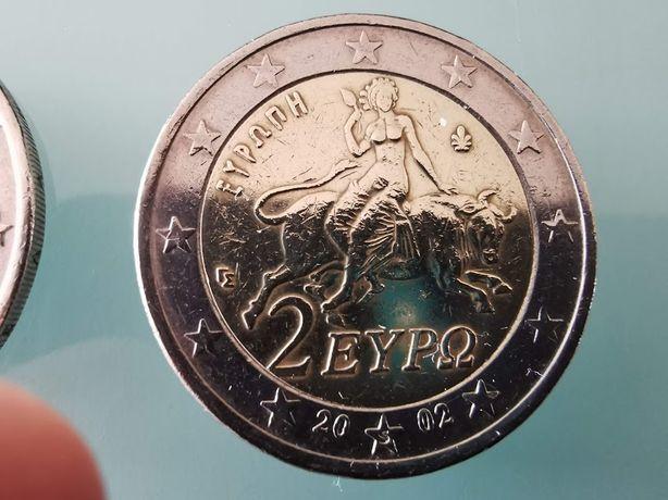 Moeda 2 Euro Grécia 2002 com * s * em estrela.