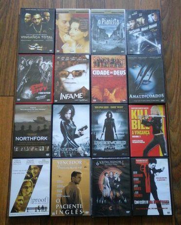Lote 20 filmes em DVD (0,40€ cada um)