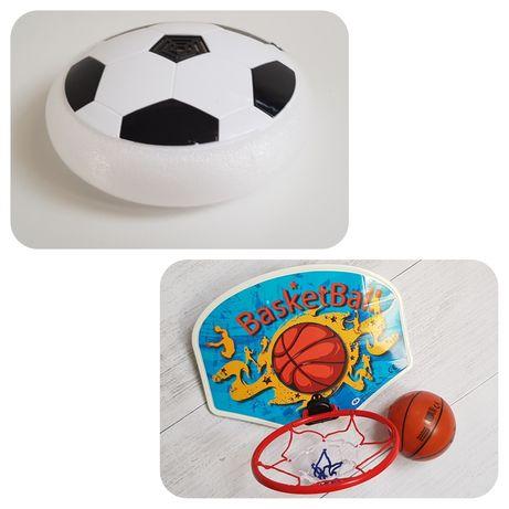Zestaw tablica do koszykówki z piłką + piłka nożna lewitująca