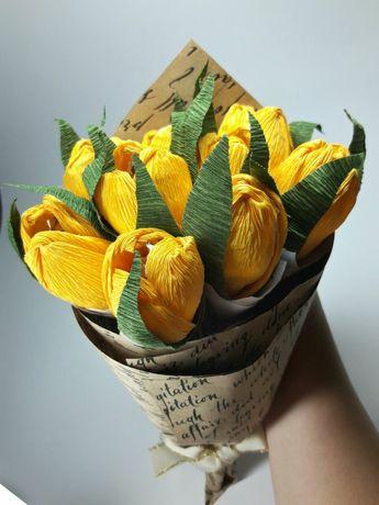 """Букет из конфет"""" желтые крокусы"""""""