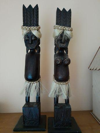 Masaje figurki drewniane styl Boho safari