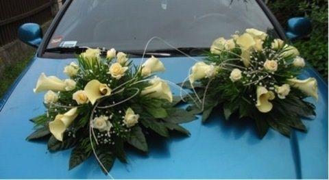 Авто-корсо (флористична піна на авто) для весілля