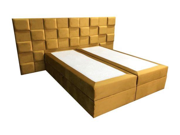Łóżko Lizbona 3D MAX 160X200 Kontynentalne z Materacem Nowość