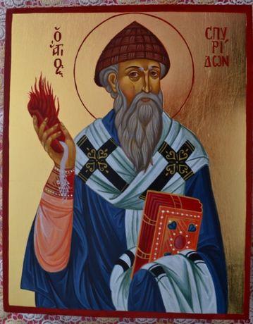 Писаная икона Святой Спиридон Тримифунтский.