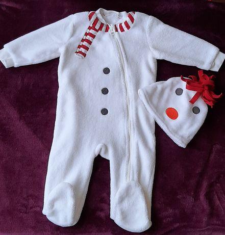 Новогодний костюм снеговика next