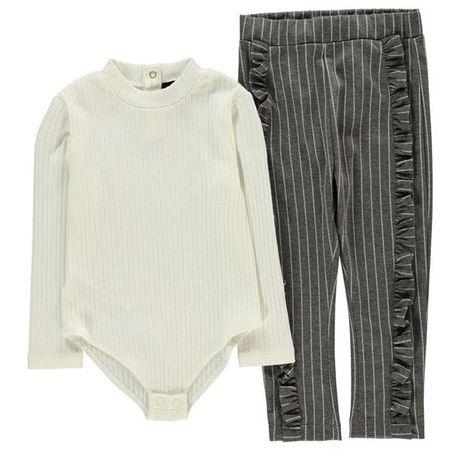FIRETRAP body + spodnie z falbankami ubrane 1 raz 74 - 80