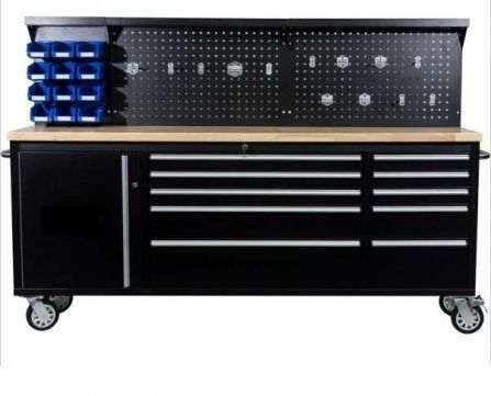 Armário /bancada de trabalho com estante de ferramentas 2.13 Mts
