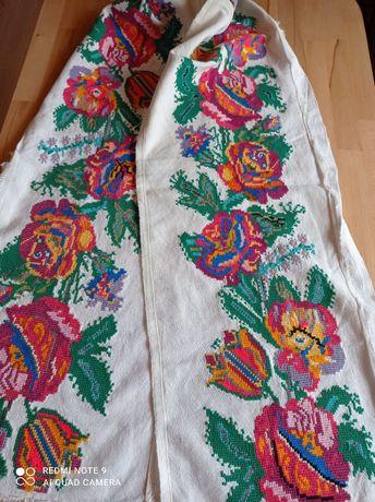 180x30 LUDOWY lambrekin zazdroska firanka haft ręczny krzyżykowy